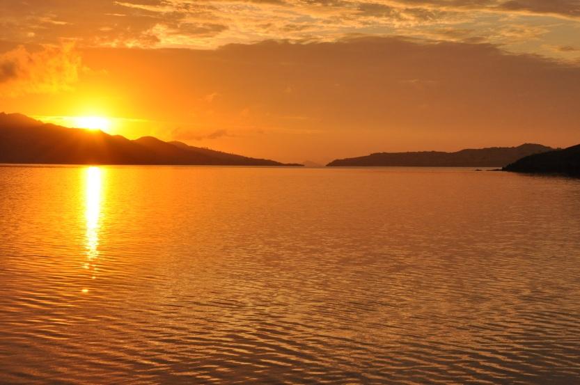 Sunset over Komodo Island